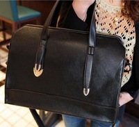 OEM 2014 women's handbag fashion solid vintage PU handbag lady soft shoulder bag shaping motorcycle bag black wine red SD2
