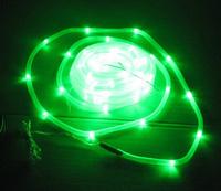 Light control Waterproof 100LED solar tube lights green LED light string holiday lights