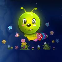 Cartoon wall stickers intelligent light control nightlight bedroom bedside lamp caterpillar parent-child lamp