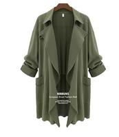2014 autumn outerwear fashion plus size trench  XXXXXL