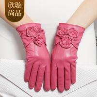 Women's sheepskin gloves female winter thermal genuine leather gloves women's gloves
