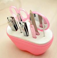 Hot Fashion Case +1 set 9pcs Nail Manicure Set Tools Clipper Kit Nail Care Set Pedicure Scissor Tweezer Knife Ear pick Utility