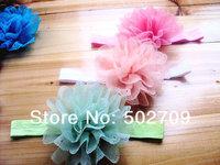 Three-dimensional cutout chiffon flower hair band baby child hair accessory popular hair accessory accessories fashion