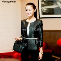Presell High quality autumn Plus size princess style jacket plus size 2014 autumn gorgeous slim suit jacket beading slim coat