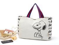 Cartoon handbag eco-friendly fresh brief women's canvas bag  lunch bag tote bag lunch bags shopping bag
