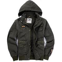 Water wash canvas multifunctional outdoor jacket sleeves