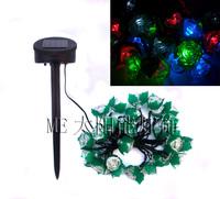 30 Solar 30LED roses wedding decorative light string holiday lights Christmas lights wholesale