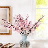 High quality artificial flowers silk flower artificial flower high artificial flower glue peach blossom