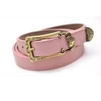 Vintage national trend belt female all-match carved candy color belt fashion genuine leather pigskin strap free shipping
