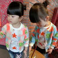 Zipper watermelon baseball Jacket clothing cardigan 2014 autumn clothing boy girl child outerwear baby coat