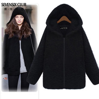 2014 New women's coat  outerwear casual loose medium-long winter thickening outerwear female free shipping
