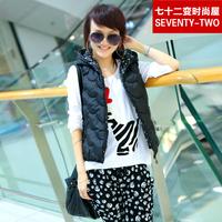 Fashion house bm801 2014 autumn and winter female with a hood vest cotton clip vest style