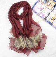Silk Scarf Women Cotton Stitching Luxury Scarves Long Shawl Winter and Autumn Scarves & Wraps