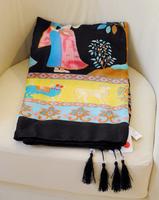Winter women new Exotic ethnic Ladies original single tree fringed cotton scarf shawl h41 Free shipping