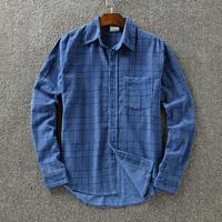 Fashion male autumn shirt corduroy long-sleeve turn-down collar shirt plus size men's clothing