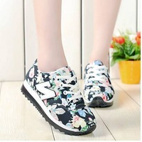 Spring and summer  letter forrest gump platform casual sports sneakers male women's shoes printing single shoes