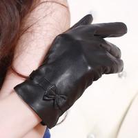 Genuine leather sheepskin gloves women's autumn and winter gloves