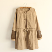 Sweet women's 2014 high quality unique mesh single breasted trench