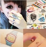 Fashion magic HARAJUKU colorful moon tattoo stickers