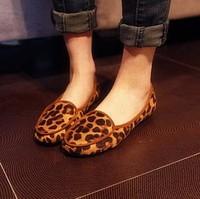 2014 fashion single shoes round toe flat heel flat comfortable all-match fashion leopard print slip-resistant female shoes