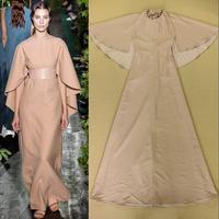 2014 Fashion Elegant  batwing sleeve Racerback Sexy Formal dress Full dress one-piece dress