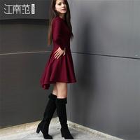 New 2014 autumn and winter women's dress long-sleeved Slim  elegant princess  dresses women bottoming Free shipping