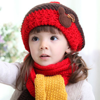 2014 hot selling child hat princess baby hat autumn and winter beanie knitted hat free shipping