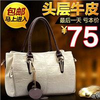 2014 women's handbag first layer of cowhide women's bags genuine leather one shoulder bag cross-body handbag
