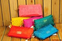 Bodan women's handbag cutout canvas day clutch cosmetic bag