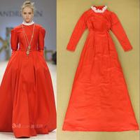 Fashion autumn 2014 fashion lace collar paragraph fashion nobility elegant long-sleeve ladies formal dress full dress one-piece
