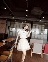 2014 new women's plus dress self-cultivation temperament A word skirt short sleeved Korean female backing skirt free shipping