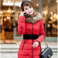 Hot Sale New quality   women's down coat winter warm long fur coat jacket clothes wholesale