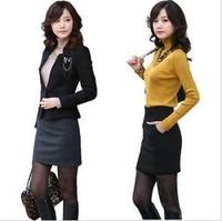 Winter woolen professional slim hip short skirt woolen high waist OL skirt