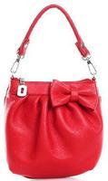 Sweet genuine leather messenger bags handbag women candy colors elegant bow tote MB2108