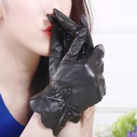 Genuine leathersheepskin  women's gloves autumn and winter gloves thin gloves
