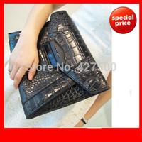 2014 fashion women's crocodile clutch bag female snake pattern brand envelope bag lady's luxury party evening handbag 3 colors