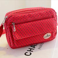 Sweet polka dot messenger bags for women 5 colors durable canvas multi functional cross body handbag SB2805