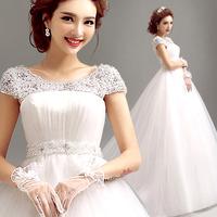 2014 BEST THE ANGEL WEDDING DRESS,new arrival Pearl diamond perspectivity wedding dress princess bride dress A7159#