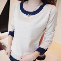Women's 2014 autumn long-sleeve T-shirt women's sweater slim wool shirt top basic shirt
