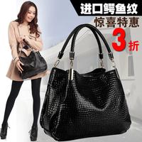 Women's bags 2014 women's for Crocodile women's handbag large messenger bag handbag cross-body women's handbag bag