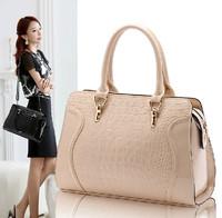 Genuine leather cowhide 2014 women's fashion handbag one shoulder handbag cross-body for Crocodile women's bags