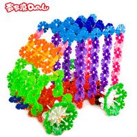 12 Medium thickening plastic snowflakes child yakuchinone insert blocks baby assembling toys