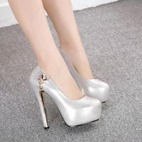 High-heeled shoes 2014 sexy platform thin heels women's shoes fashion rhinestone princess high-heeled shoes