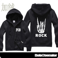 2014 new cardigan FOB Down boy fall out boy zipper sweater plus thick velvet cotton lovers Autumn man hoody jacket hoodies