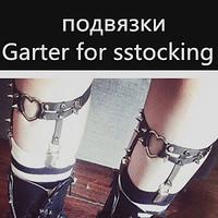 2014 Newest Sexy Studded Heart Garter Rivet Punk Goth Harajuku Handmade Garter Belt Leg Ring for women gift