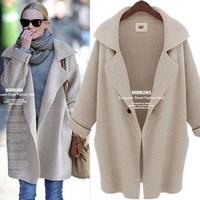 cardigan women 2014 European and American style large loose sweaters 2014 women fashion, single button free shipping