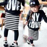 Fashion Girls Pants Black and White Thread Slim Hip Skirt Culottes Legging 2014 Spring and Autumn Pants & Capris