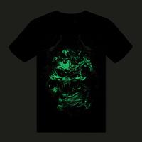Luminous 3dt neon skull t-shirt short-sleeve neon clothes male Women luminous clothes short-sleeve