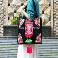 Free shipping! National women's trend handbag, embroidery one shoulder cross-body bag multi-purpose