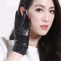 Genuine leather  thin sheepskin gloves women's gloves autumn and winter free shiiping